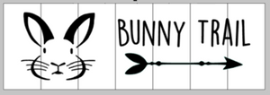 Bunny trail with bunny and arrow