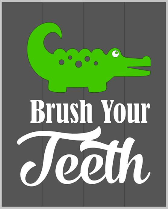 Brush your teeth-alligator