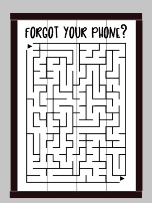 Forget your phone? Maze