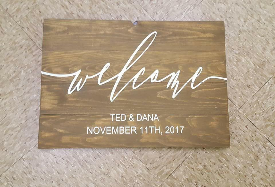 Welcome-Couples name and Date