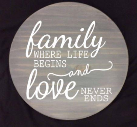 Lazy Susan - Family where life begins and love never ends