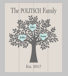 3D Family Tree with est date and Hearts