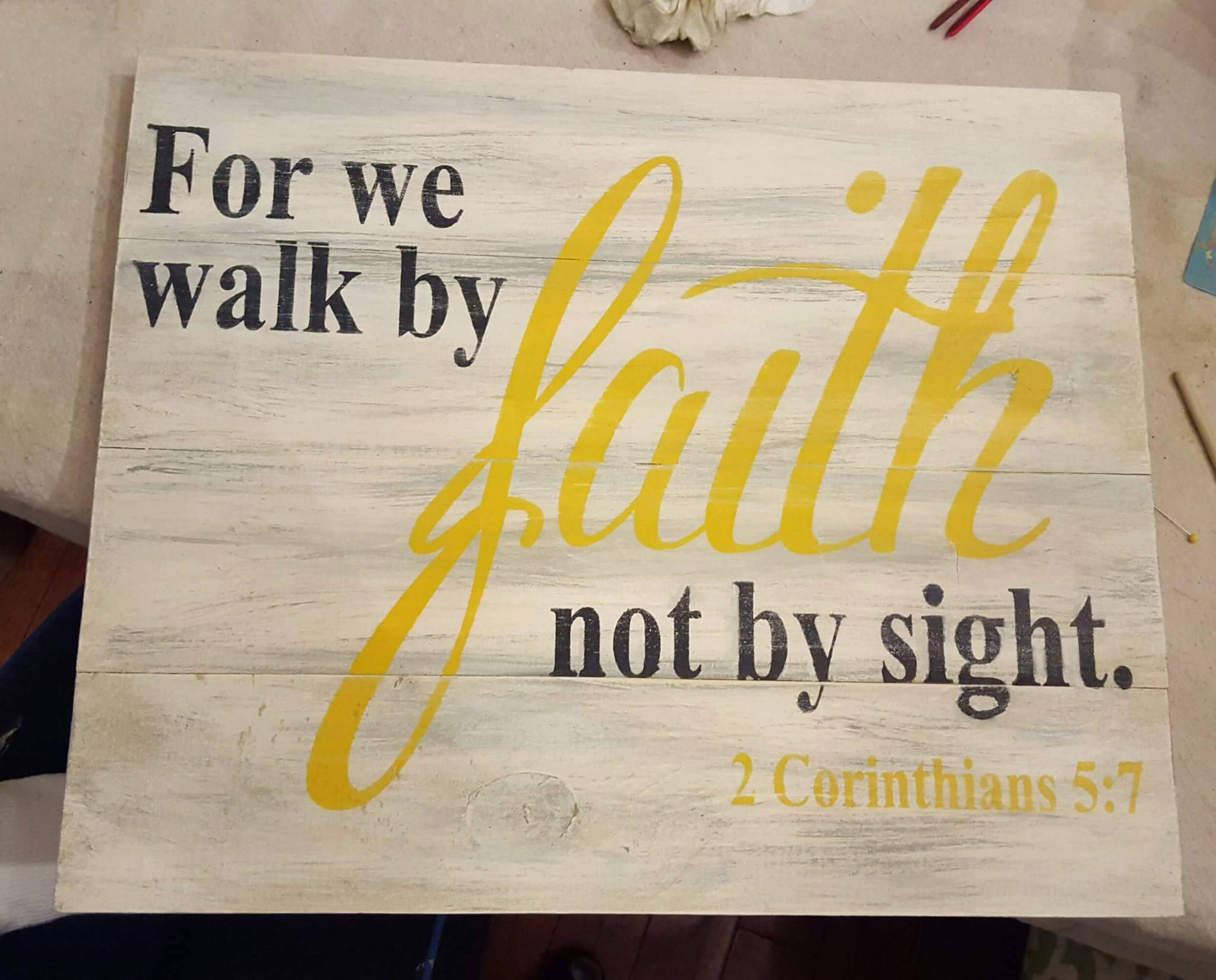 For we walk by faith not by sight