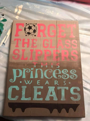 Forget the glass slippers this princess wears cleats