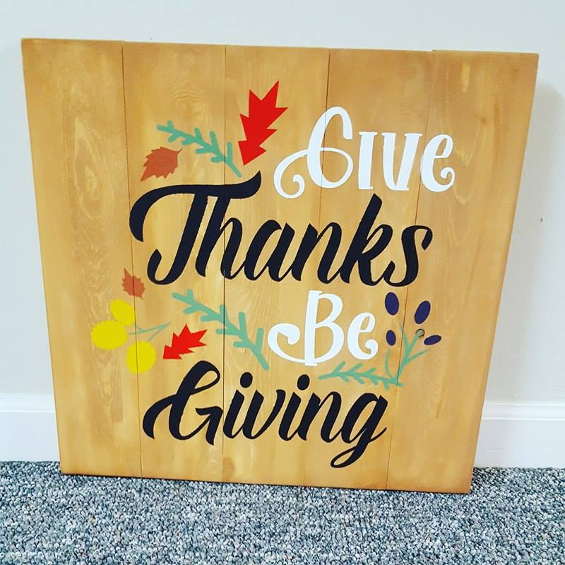 Give thanks be giving