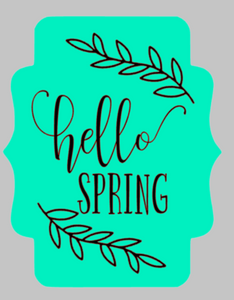 Door hanger Hello Spring