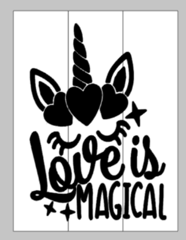 Love is magical with unicorn