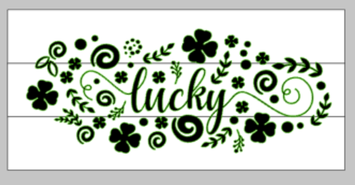 Lucky floral with clovers