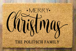 Merry Christmas with family name