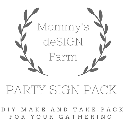 Kids Party Sign Kits