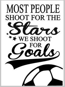 Most people shoot for the stars we shoot for the goals