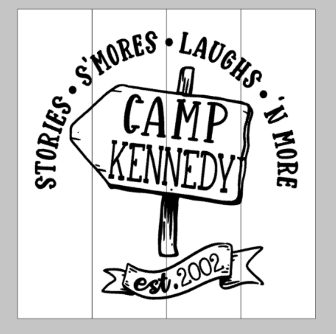 Stories S'mores Laughs N More Camp-family name est date
