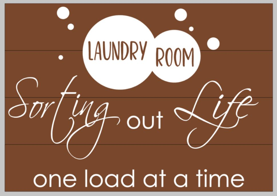 Laundry room sorting out life one load at a time with bubbles