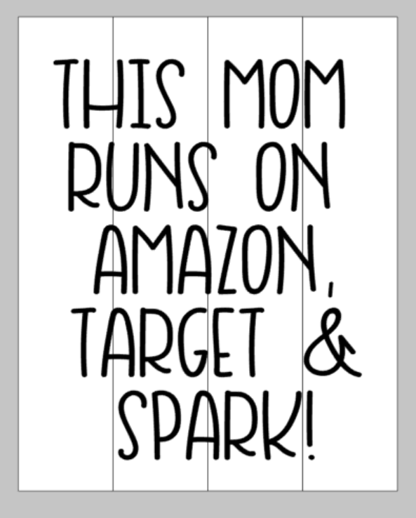 This mom runs on amazon target and spark