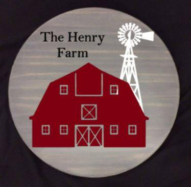 Lazy Susan - The (last name) Farm with Barn and Windmill (Henry shown)