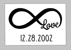 Valentines Day Tiles - Infinity symbol love with date