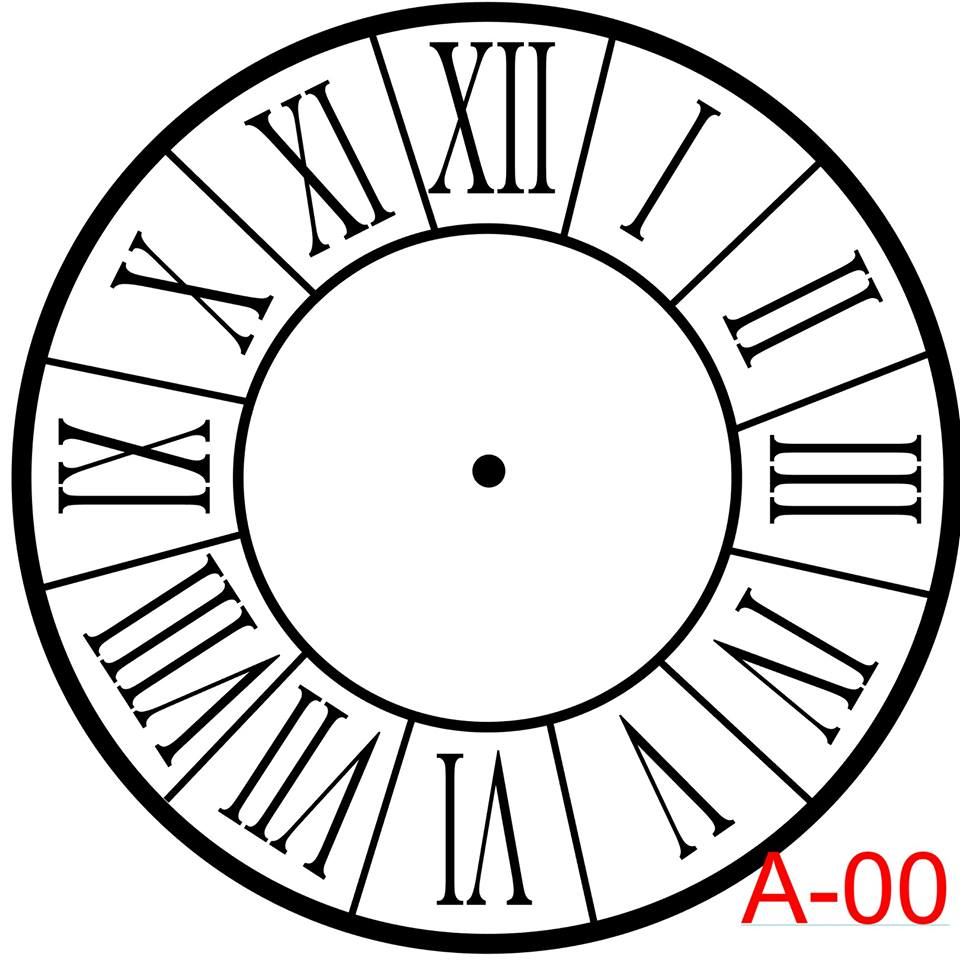 Clock - Roman Numerals with border  (A-00)
