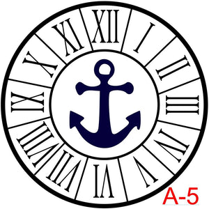 Clock - Roman Numerals with border insert anchor  (A-5)