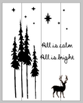 All is calm All is bright with deer and trees