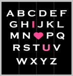 alphabet I love you