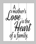 A Mother's love is the heart of a family