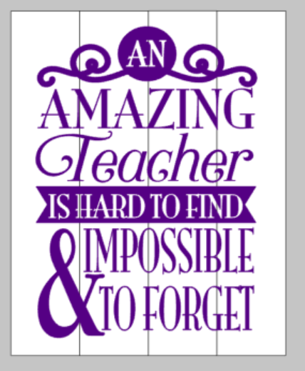An amazing teacher is hard to find