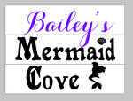Mermaid cove with name
