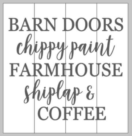 Barn Doors Chippy Paint