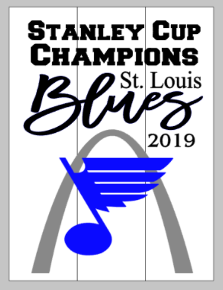 String Art  - STL Blues Stanley Cup Champions 2019