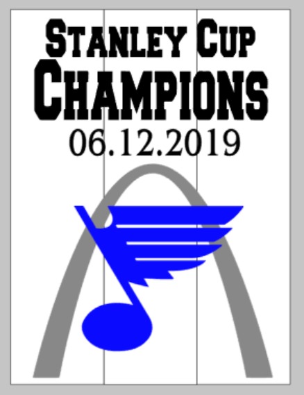 String Art  - Stanley Cup Champions-Blues 06.12.2019