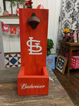 Wood bottle opener and catcher STL Budweiser