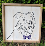 Pet Portrait - Head with bowtie
