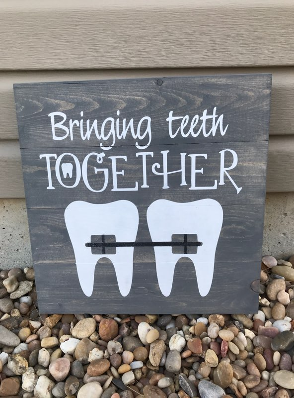 Bringing teeth together