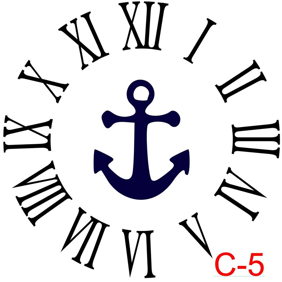 Clock - Roman Numerals with no border insert anchor (C-5)