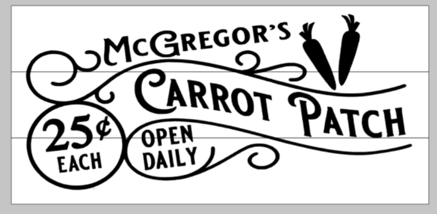 McGreggor's Carrot Patch 25 cents