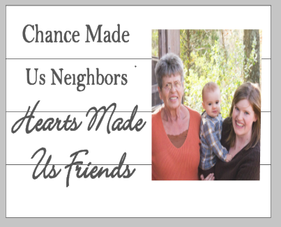 Chance made us neighbors - Photo Board