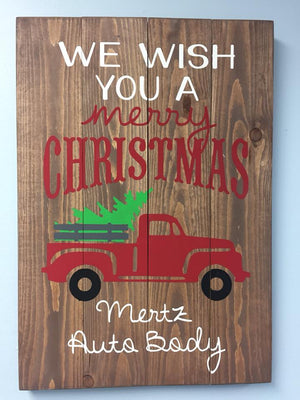 We wish you a merry christmas-Truck