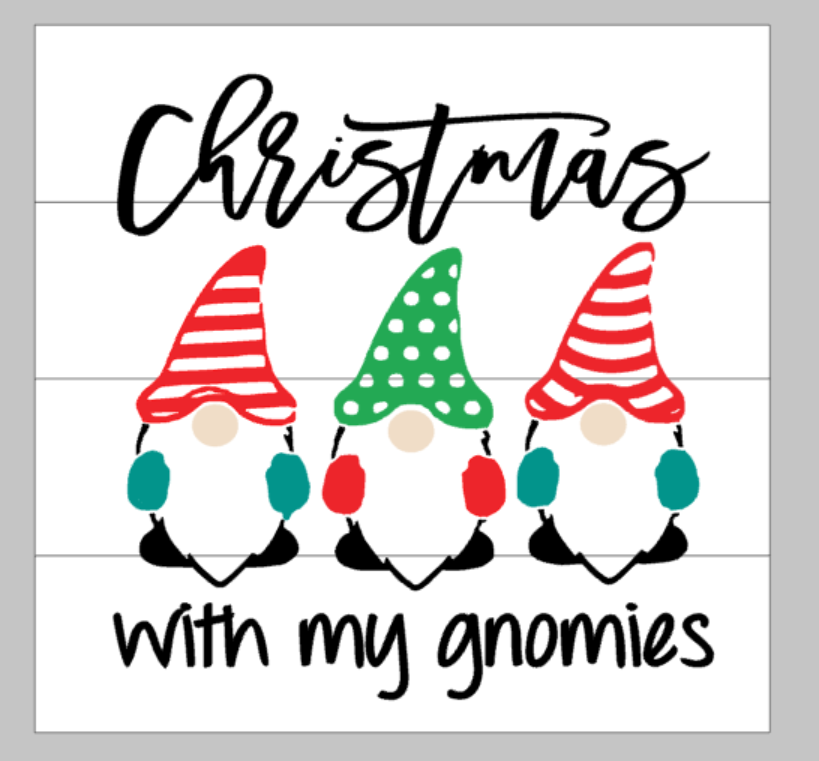 Christmas with my gnomies