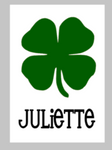 St. Patrick's Day Tiles - Clover with name
