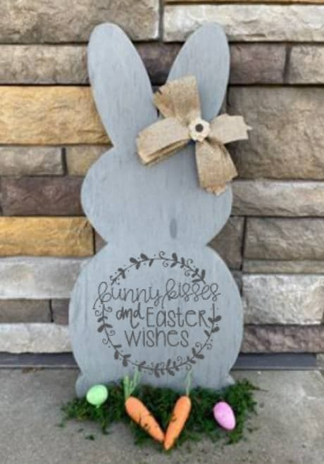Spring Connection Easter Bunny - Bunny kisses and Easter wishes wreath