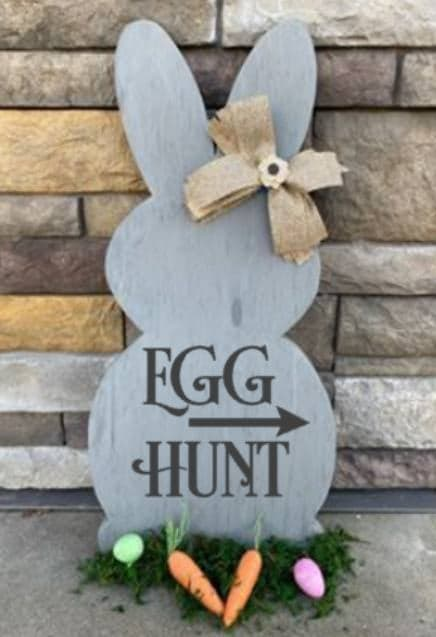 Spring Connection Easter Bunny - Egg Hunt with arrow