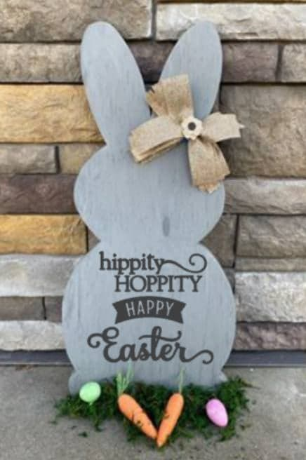 Spring Connection Easter Bunny - Hippity Hoppity Happy Easter