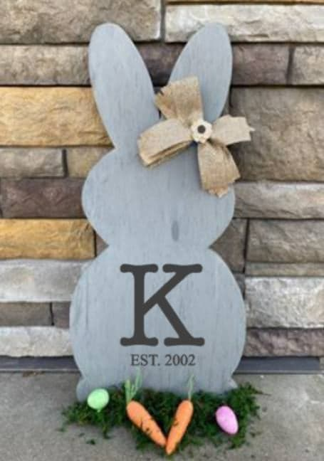 Spring Connection Easter Bunny - Letter with est date