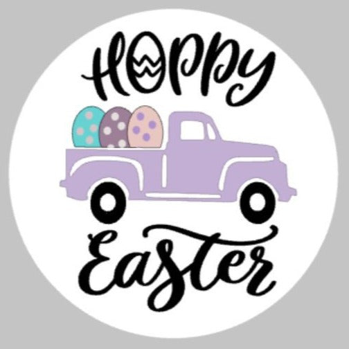3D Door hanger Hoppy Easter Truck