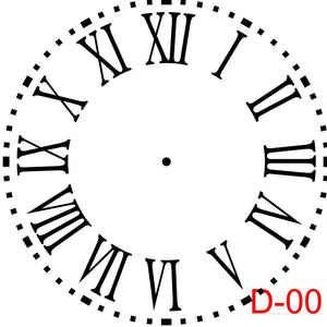 Clock - Roman Numerals with Dotted Border (D-00)