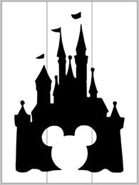 Disney castle with Mickey Mouse cutout