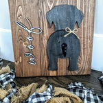 3D Dog Leash Hanger Customizable Dog with Woof or Name