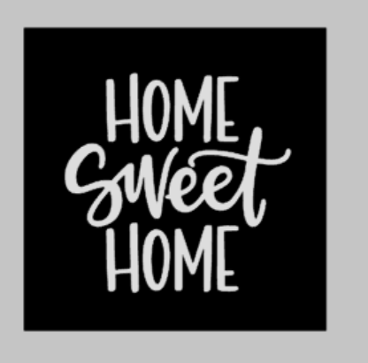 Door hanger Home sweet home square