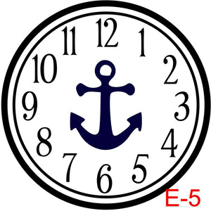 Clock - Numbers with Circle border insert anchor  (E-5)