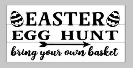 Easter Egg Hunt bring your own basket